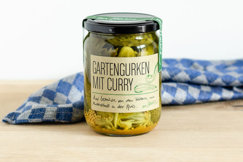Gartengurken mit Curry